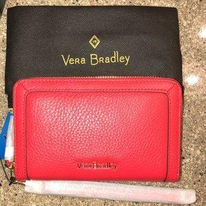 Vera Bradley Leather Wristlet In Canyon Sunset